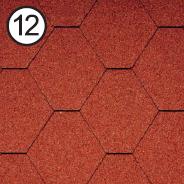 Битумная черепица RoofShield Стандарт 0.0, 25, Плоская, Классик кирпично-красный