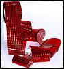 Переводная фольга для литья и Голливудского маникюра, цвет Красный кристалл, 50 см.
