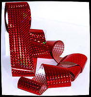 Перекладна фольга для лиття та Голлівудського манікюру, колір Червоний кристал, 50 див.