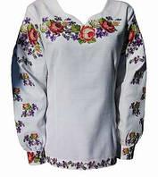 Вышитая блузка Цветочный розмай (Женские и мужские вышиванки)