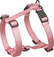 20357 Trixie Шлея Premium H-Harness нейлон Розовая, 75-100см/25мм
