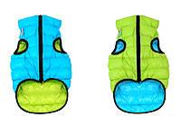 Курточка двухсторонняя Collar AiryVest, салатово-голубая, S 40 1616