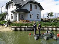 Очистка водоемов мини земснарядом