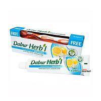 Уход за полостью рта Dabur Отбеливающая зубная паста со щеткой Dabur Herb'L Соль и лимон 150 г