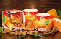 Свечи в стакане Рождественские специи, ароматизированные