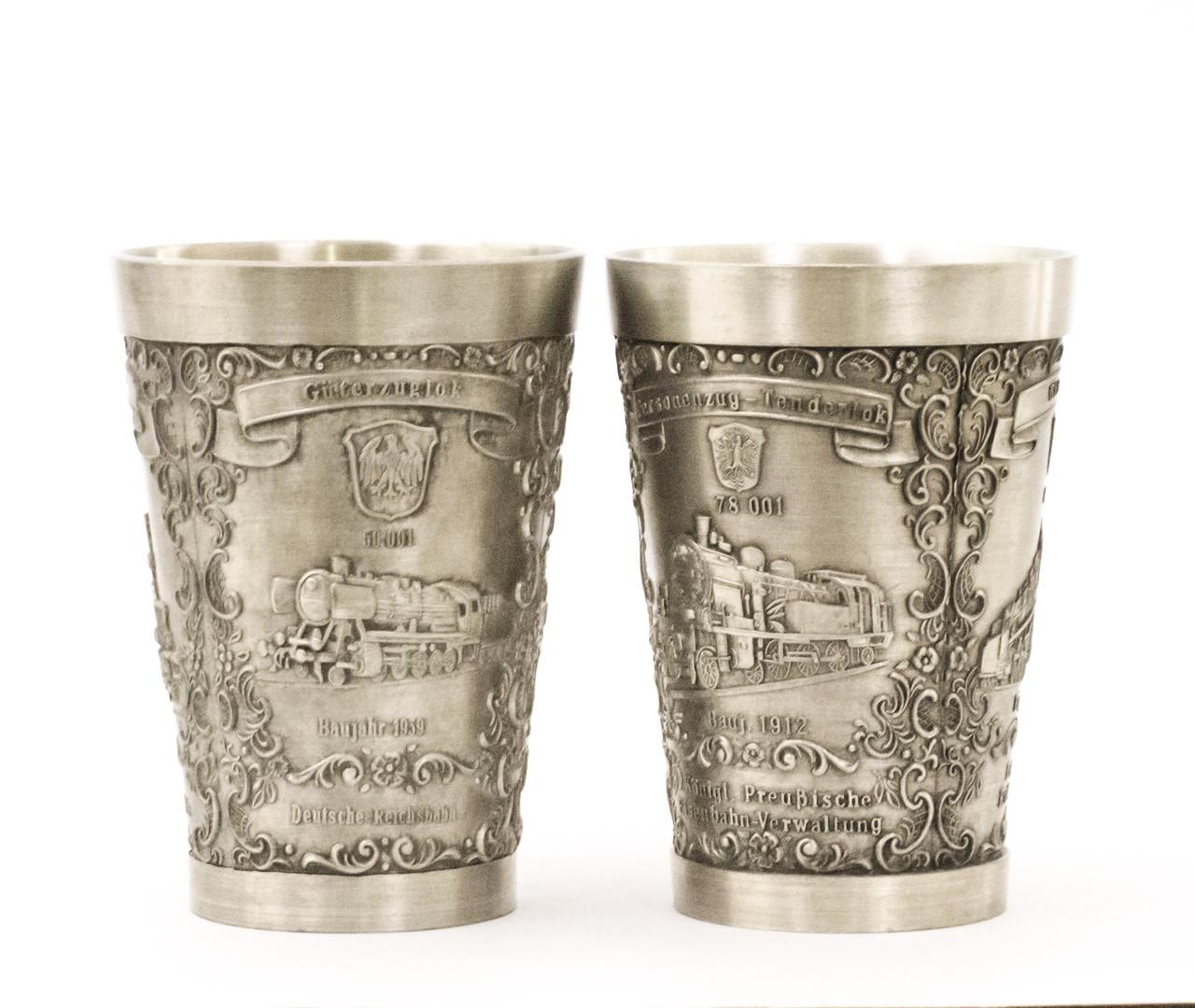 Два винных оловянных бокала, Германия, олово, 150 мл