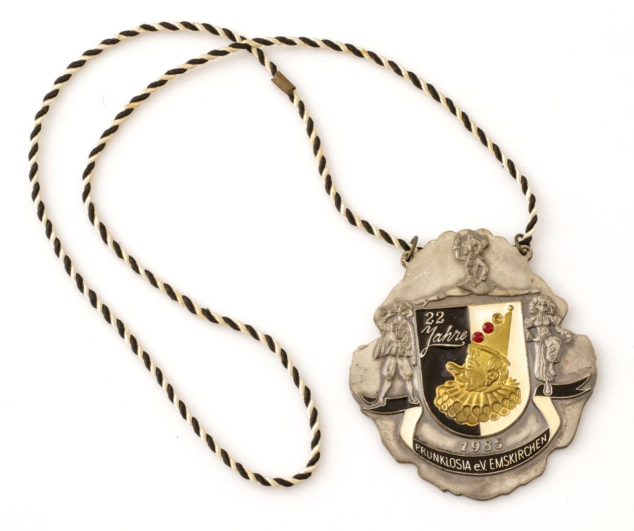 Mедальон, карнавальный ордер, Германия, олово, 1985 год