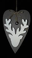 Подвеска-прищепка в виде сердечка, дерево, вис. 13 см., 32/24 (цена за 1 шт. + 8 гр.)