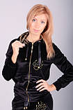 Модный велюровый костюм черный бархат с тигром, фото 4