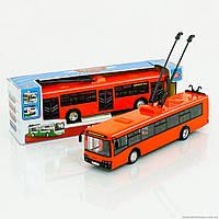Детская инерционная машинка Троллейбус и Автобус М9690
