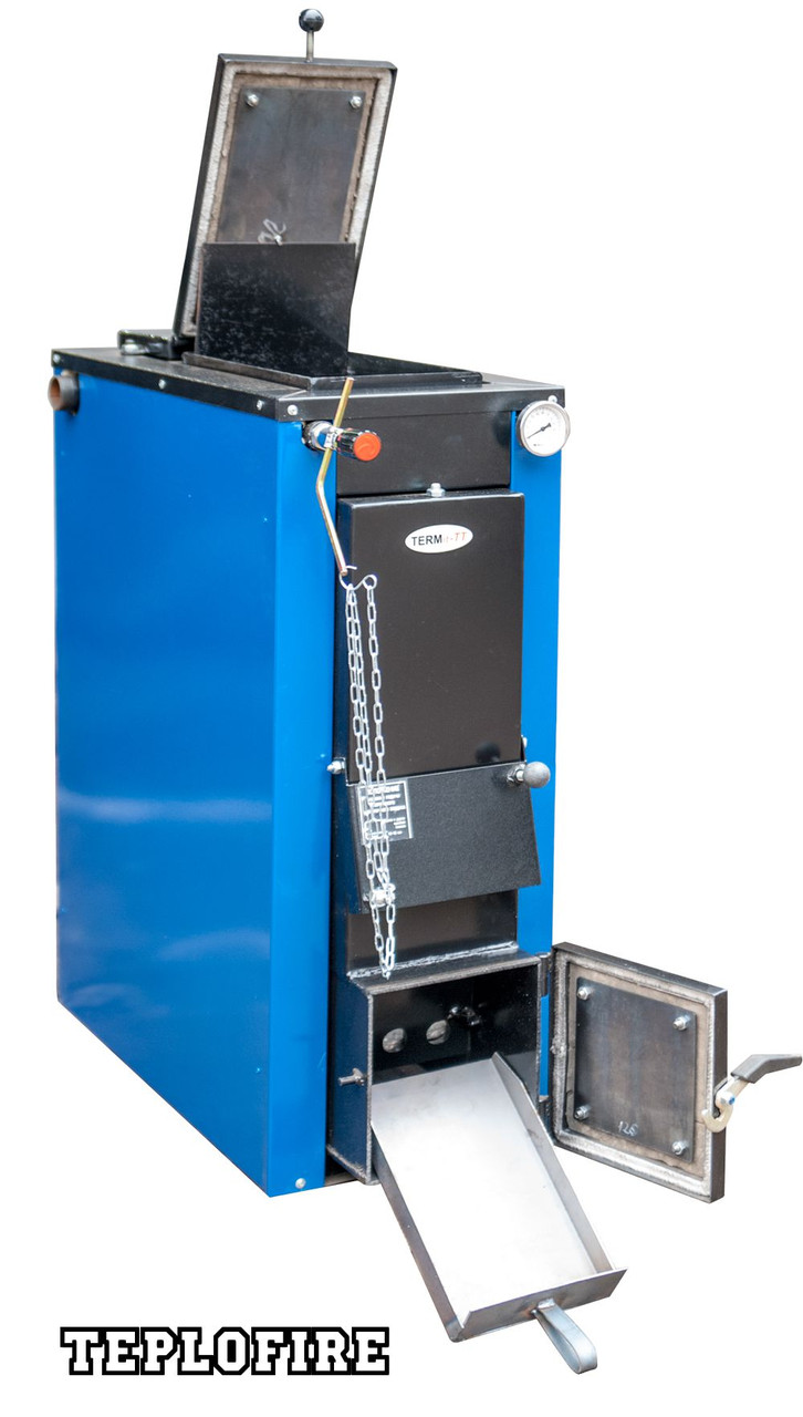 Котел на твердом топливе ТЕРМІТ-ТТ 18 кВт Cтандарт (с обшивкой и теплоизоляцией)