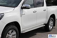 Toyota Hilux 2015+ Боковые подножки KB001 51мм