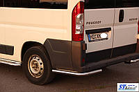 Peugeot Boxer 2006+ и 2014+ гг. Задние уголки AK003 (2 шт, нерж)