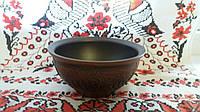 Полупорционная глиняная тарелка 400мл