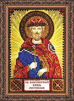Набор для вышивки бисером именной мини-иконы Святой Ростислав AAM-138