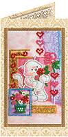 Набор-открытка для вышивки бисером Амурчик AO-125