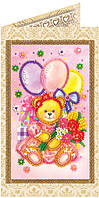 Набор-открытка для вышивки бисером Праздник детства AO-126