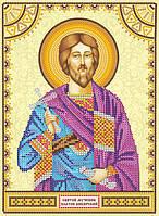Схема для вышивки иконы бисером на холсте Святой Платон ACK-137