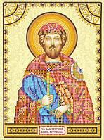 Схема для вышивки иконы бисером на холсте Святой Ростислав ACK-138