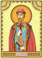 Схема для вышивки иконы бисером на холсте Святой Святослав ACK-135