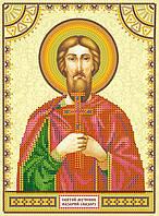 Схема для вышивки иконы бисером на холсте Святой Назарий (Назар) ACK-136