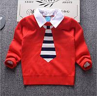 Детский нарядный свитер с галстуком