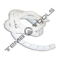 Спиральная оплетка (обвязка) SWB-12 для проводов прозрачная