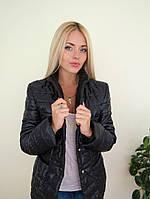 Черный стеганный пиджак на кнопках. Арт-8947/76