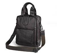 Кожаная сумка темно-серая 7266I, фото 1