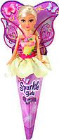 Волшебная фея Бриана в желтом платье с роз. крыльями (25 см), Sparkle girlz, Funville (FV24110-1)