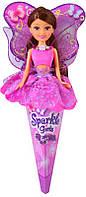 Волшебная фея Натали в лиловом платье с лиловыми крыльями (25 см), Sparkle girlz, Funville (FV24110-2)