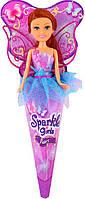 Волшебная фея Николь в сиренево-голубом платье с роз. крыльями (25 см), Sparkle girlz, Funville (FV24110-4)