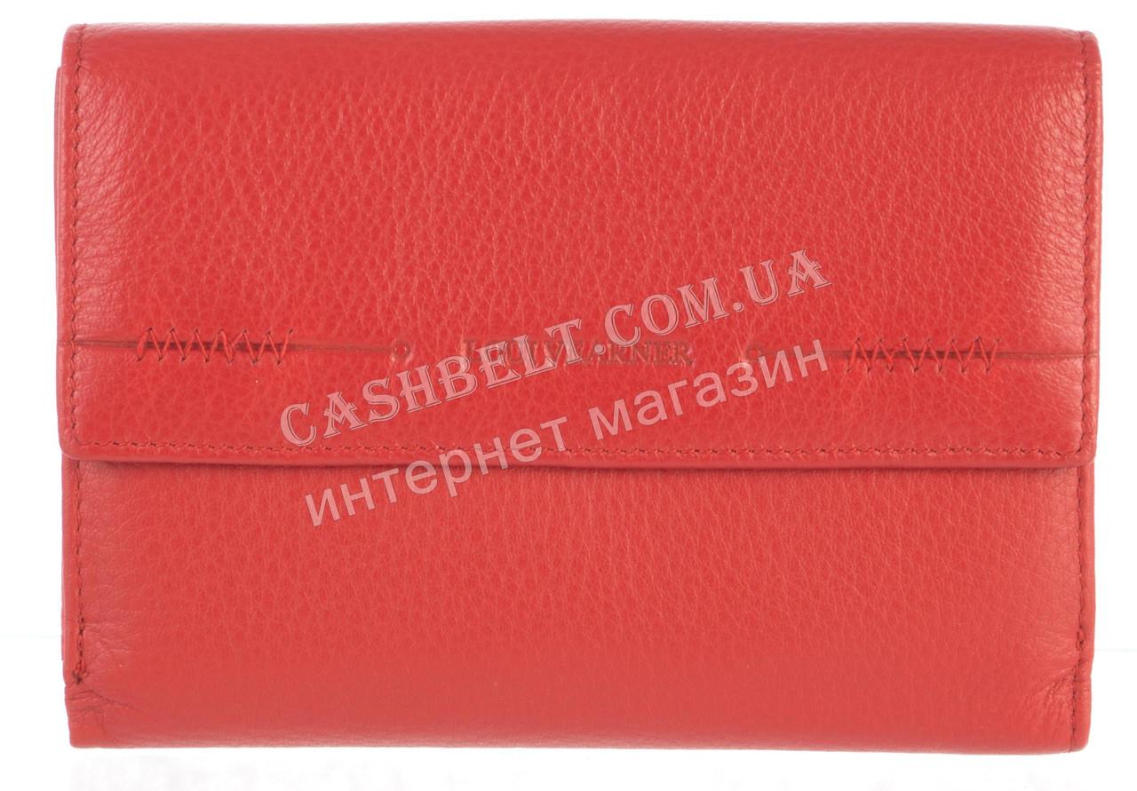 Компактный женский кожаный кошелек с картхолдером высокого качества LOUI VEARNER art. LOU107-517B красный