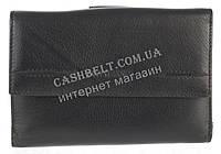 Компактный женский кожаный кошелек с картхолдером высокого качества LOUI VEARNER art. LOU107-517A черный