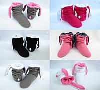 """Тапочки-ботинки с ушками """"Зайки"""" (р.34-43)"""