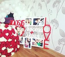 Свадебный фотоколлаж LOVE