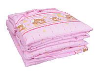 Постельный комплект Мишка3   8 элементов, цвет розовый мишка3
