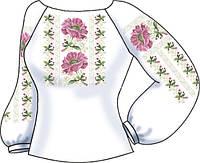 Заготовка вышивки бисером Женская сорочка на льне СВЖБ-49
