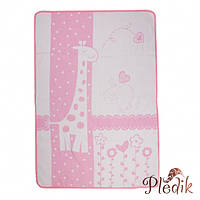 Детское хлопковое одеяло-плед 110х140 Vladi Чунга-Чанга розовый