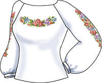 Заготовка вышивки бисером Женская сорочка на льне СВЖБ-51