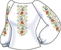 Заготовка вышивки бисером Женская сорочка на льне СВЖБ-52