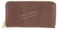 Стильный прочный женский кожаный кошелек барсетка высокого качества  SALFEITE art. 506548L коричневый, фото 1