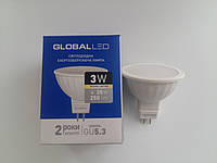 Лампа электрическая GLOBAL 1-GBL-111 MR-16  3w 3000K GU5.3