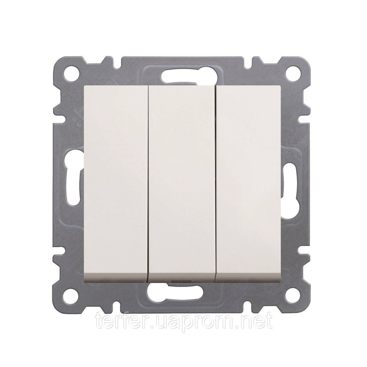 Выключатель 3-клавишный Lumina-2, белый, 10АХ / 230В