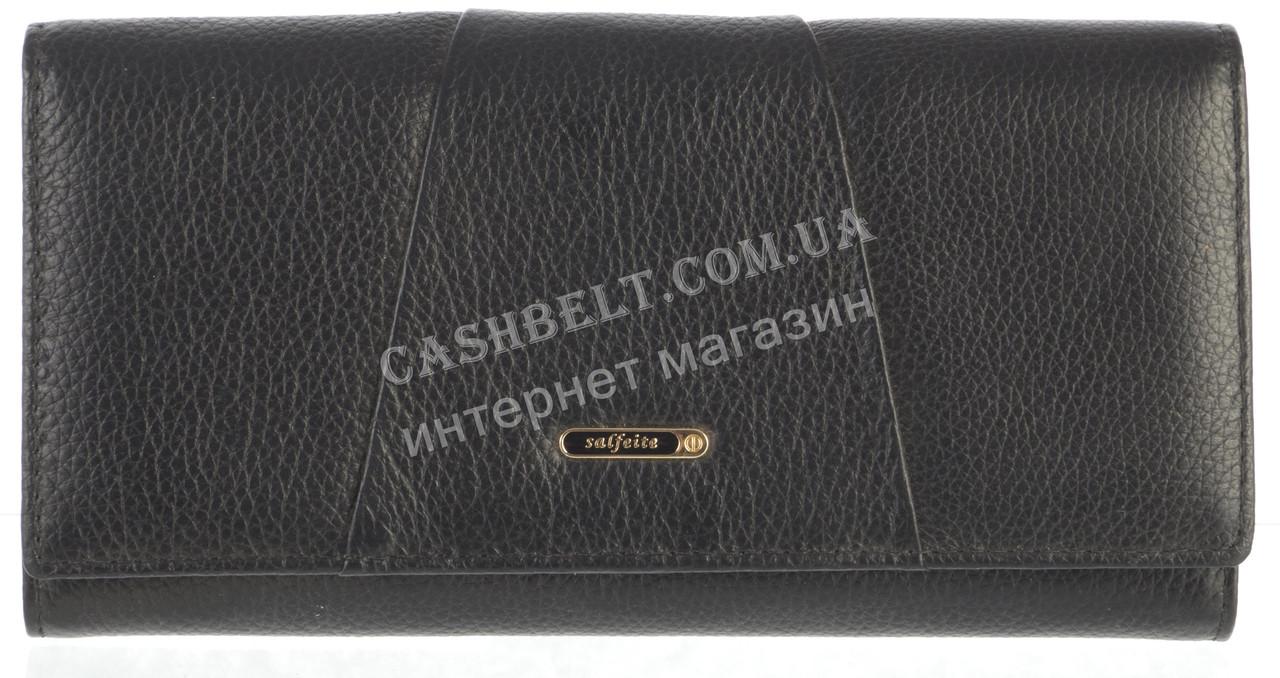 Стильный прочный женский кожаный кошелек высокого качества  SALFEITE art. 506030L черный