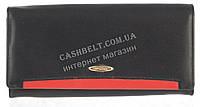 Стильный оригинальный прочный женский кожаный кошелек высокого качества SALFEITE art. 508030N черный, фото 1