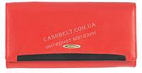 Стильный оригинальный прочный женский кожаный кошелек высокого качества SALFEITE art. 508030N красный, фото 1