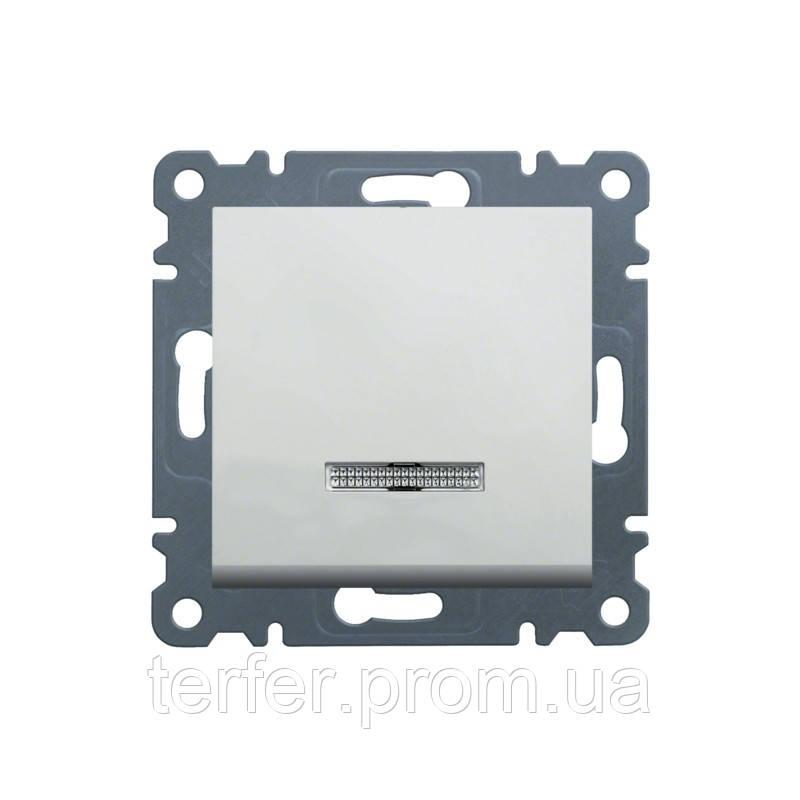 Выключатель с подсветкой универсальный Lumina-2, белый, 10АХ / 230В