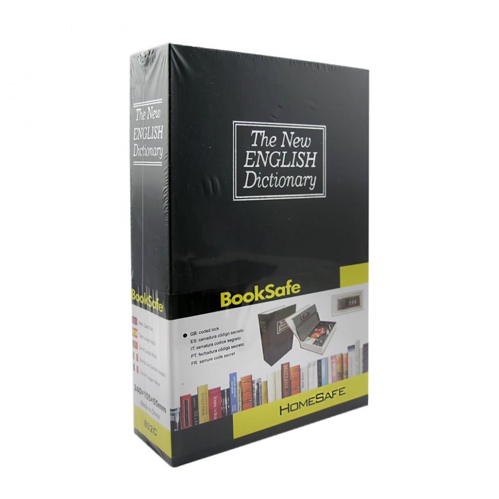 Книга-сейф Словарь 24 см черная