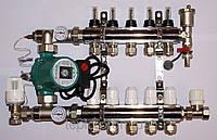 Коллектор латунный для теплого пола Gross 4 вых.